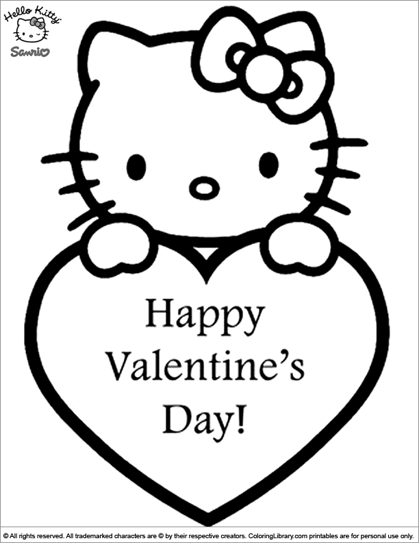 Hello Kitty Coloring Pages - Coloring Library