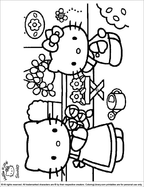 Hello Kitty coloring sheets for kids