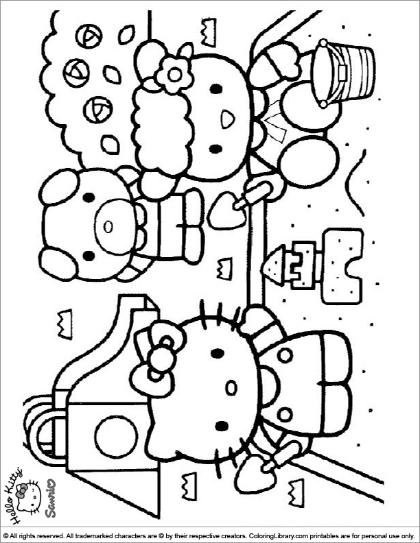 Hello Kitty coloring page free