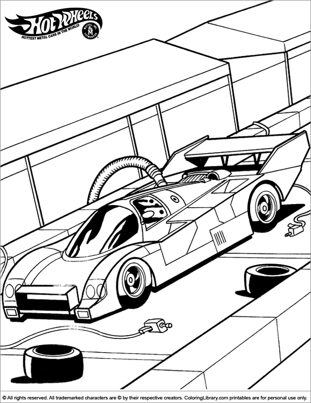 Hotwheels color page coloring library for Hotwheels coloring pages
