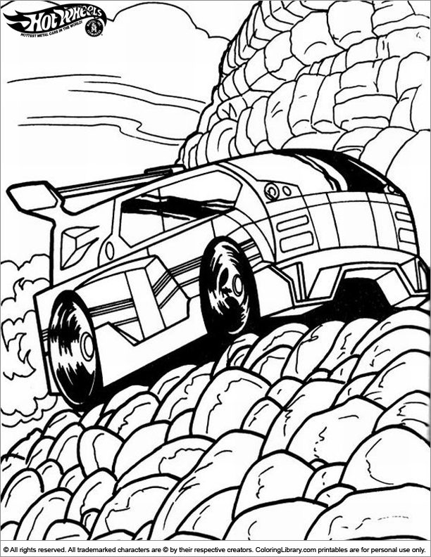 Cool Hotwheels coloring page