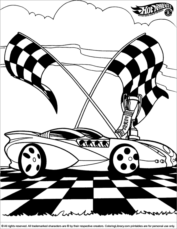 Hotwheels Coloring Picture