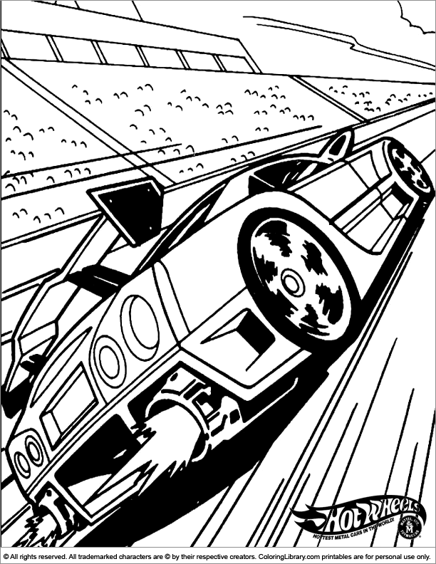 hot wheels coloring pages kindergarten - photo#1