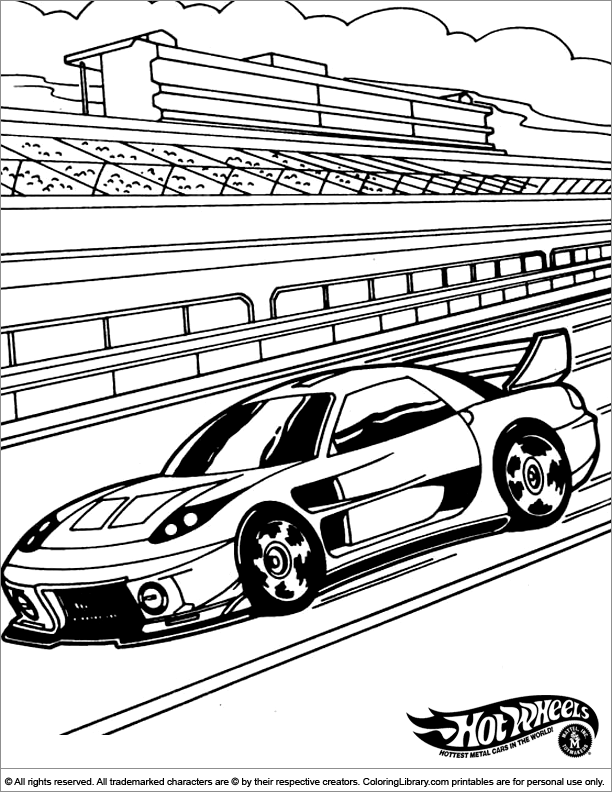 Hotwheels Coloring Pages  Coloring Library
