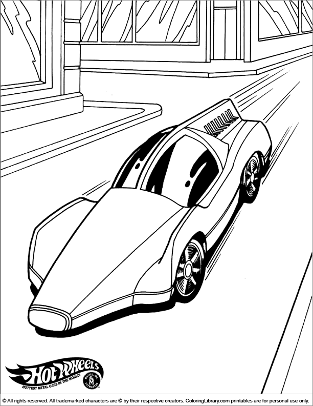 Hotwheels coloring book printable