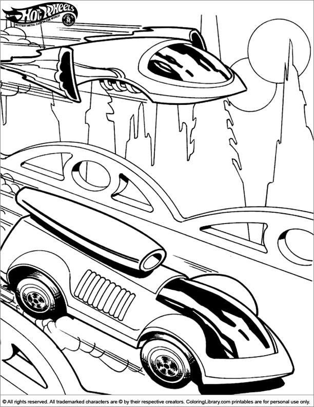 hot wheels coloring pages kindergarten-#38