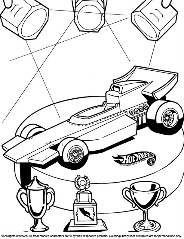 Hotwheels coloring page to print