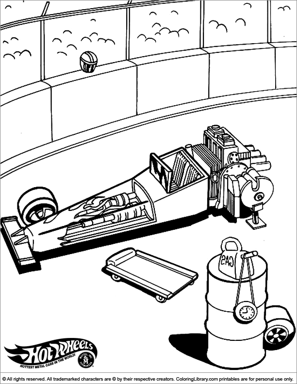 Hotwheels coloring page