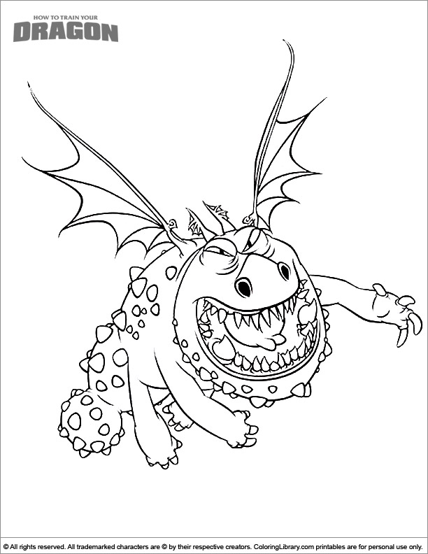 - How To Train Your Dragon Color Page - Coloring Library