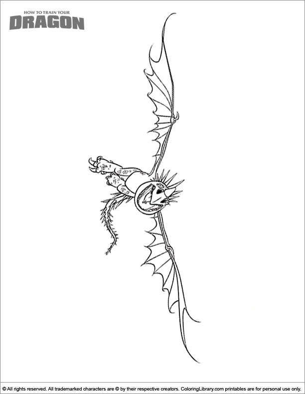 How To Train Your Dragon coloring book printable