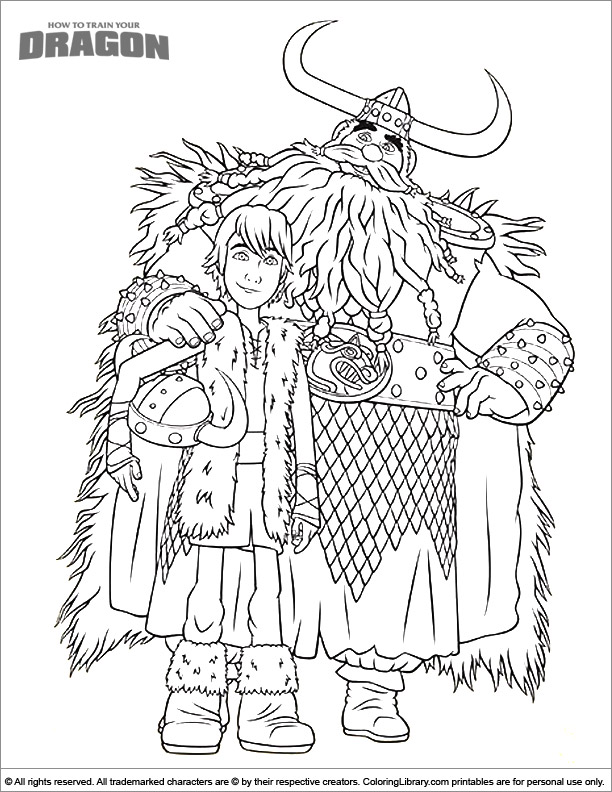 Fun How To Train Your Dragon coloring page