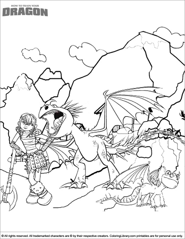 How To Train Your Dragon coloring sheet for kids