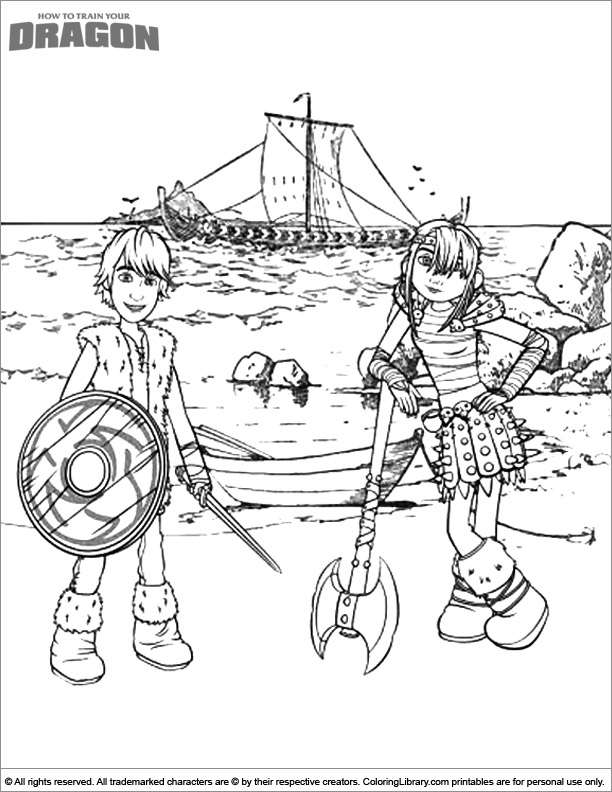 Free How To Train Your Dragon coloring page