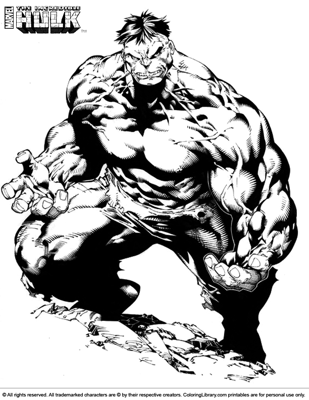 spider hulk coloring pages - photo#17