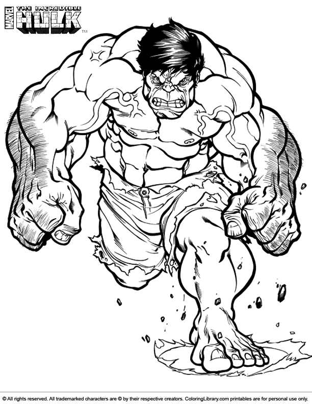 hulk coloring pages - photo #35