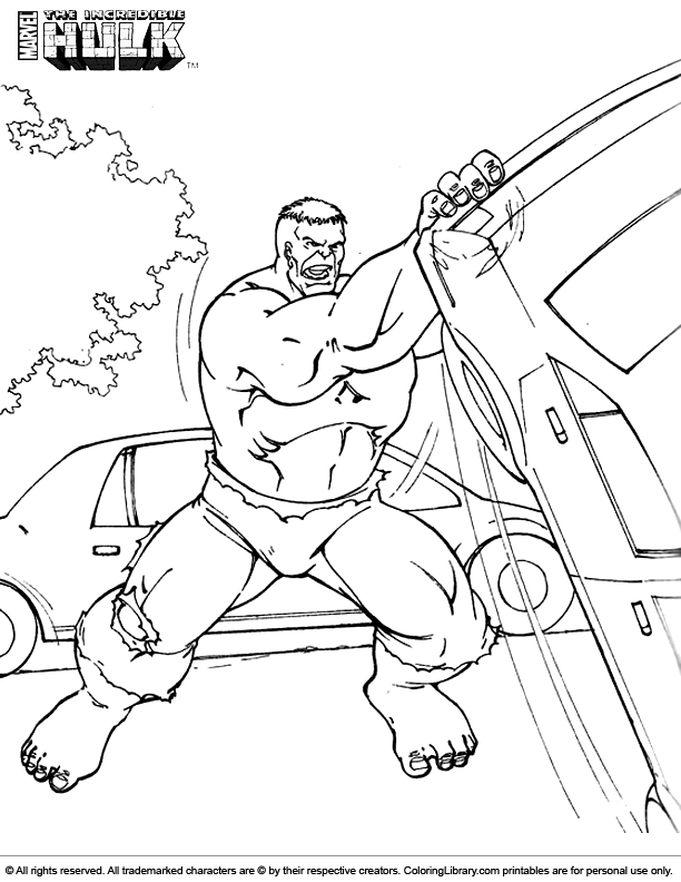Hulk online coloring page