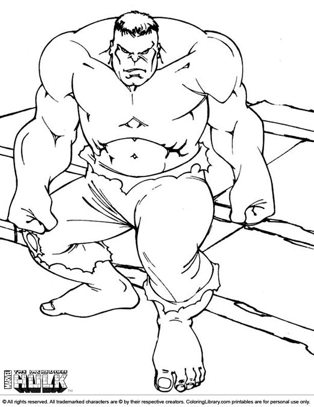 Hulk color sheet