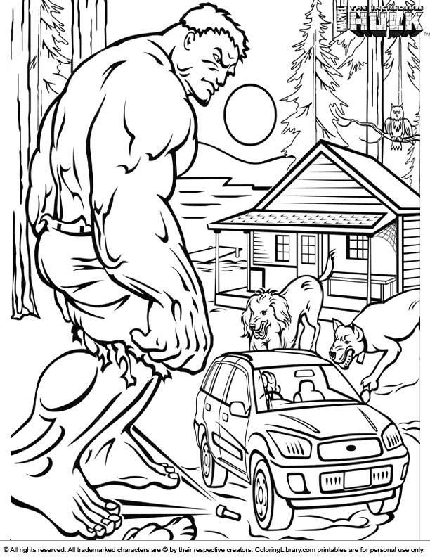 Free Printable Hulk Coloring Pages For Kids   Superhero coloring ...   792x612