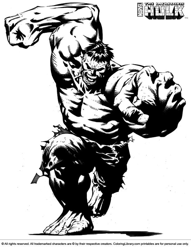 Hulk coloring book printable