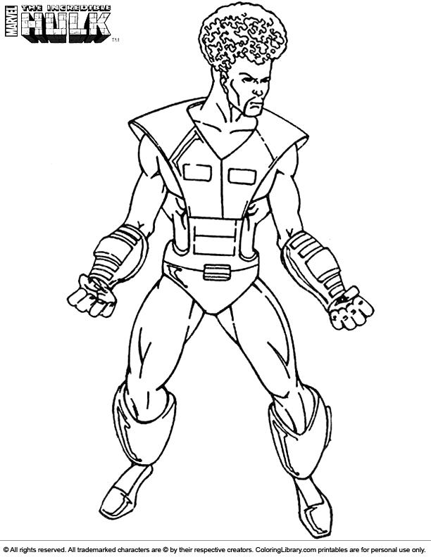 Hulk coloring printable for kids