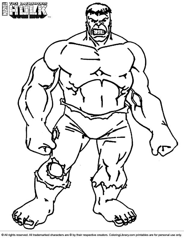 Free Hulk coloring page