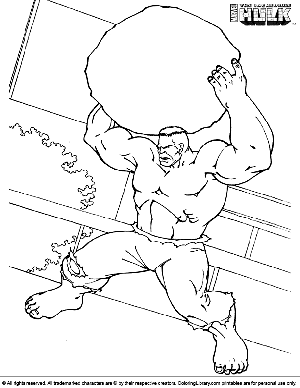 Hulk coloring page to print