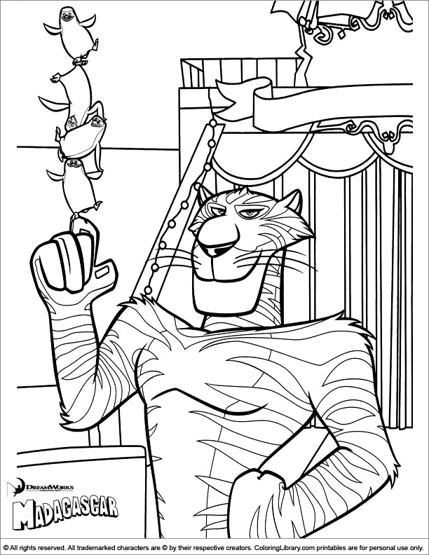 Free coloring pages of library rules