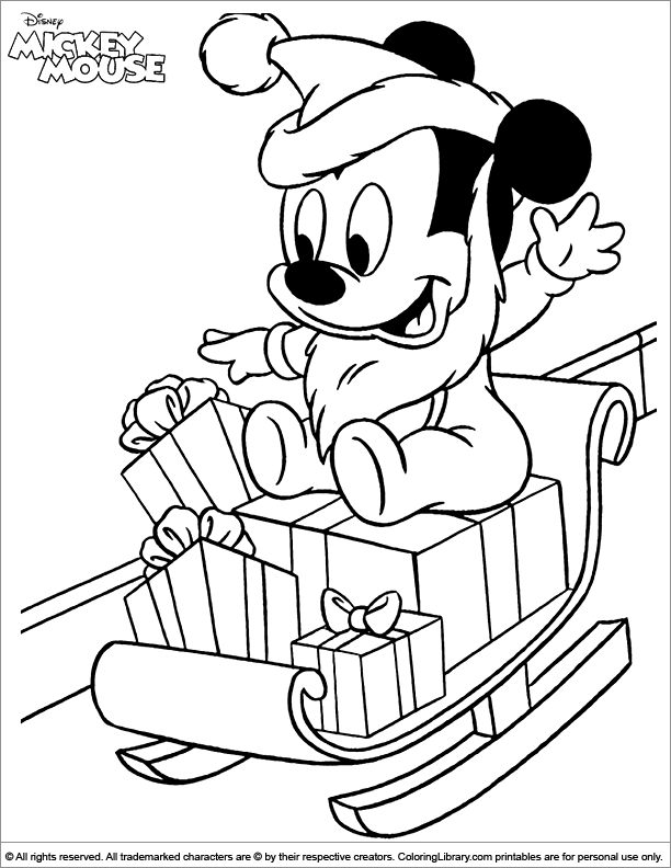 Mickey Mouse free coloring page