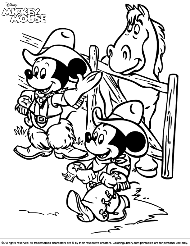 Mickey Mouse free coloring