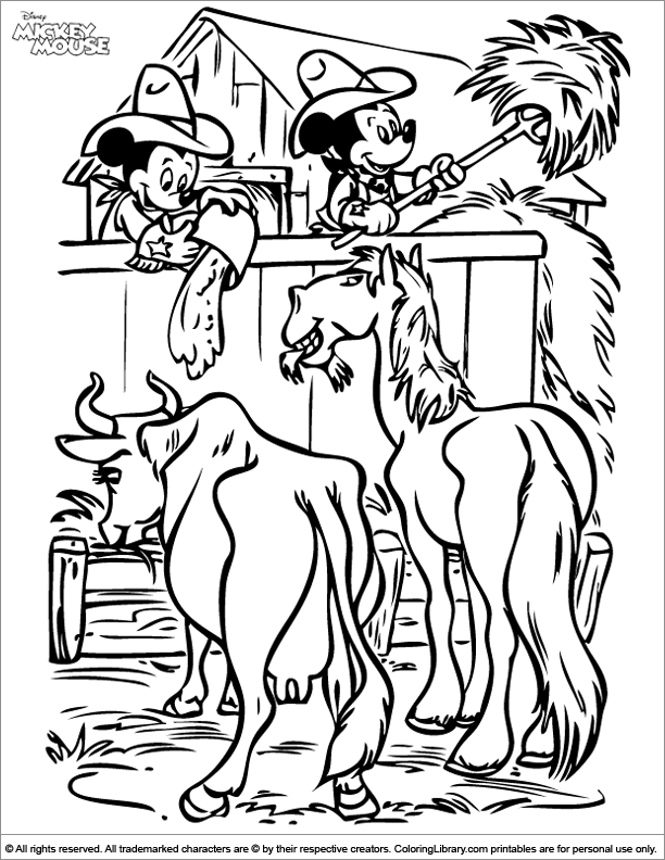 - Mickey Mouse Coloring Page Online - Coloring Library