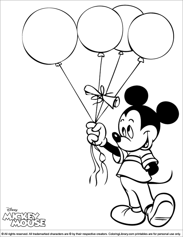 The Library Mouse Coloring Page