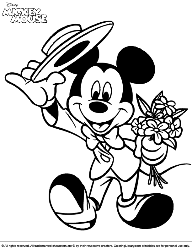 Cool Mickey Mouse coloring page