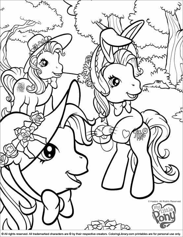 My Little Pony free printable coloring page