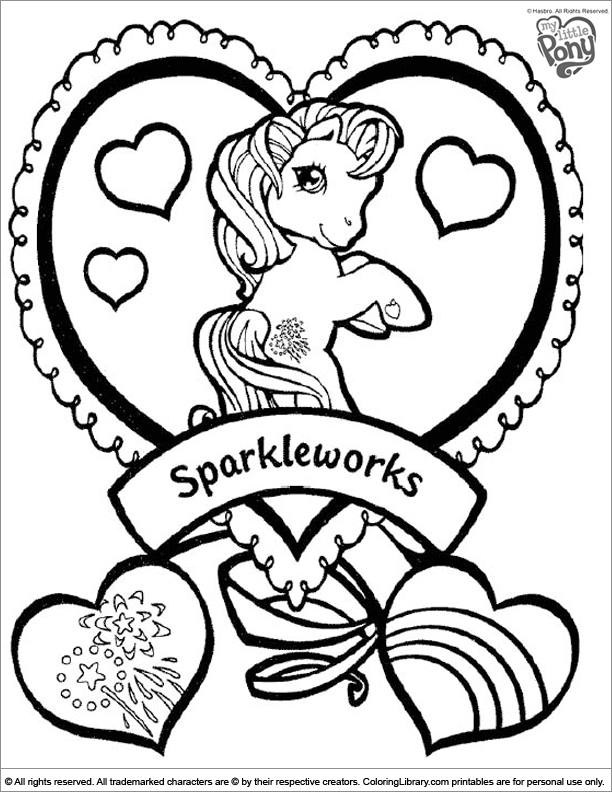 My Little Pony free coloring sheet