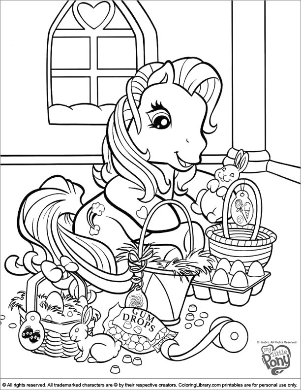My Little Pony free coloring picture