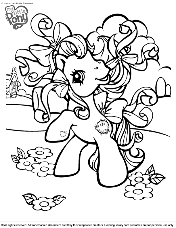 Amazing My Little Pony coloring page