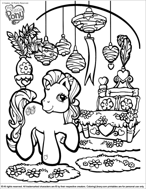 My Little Pony fun coloring sheet