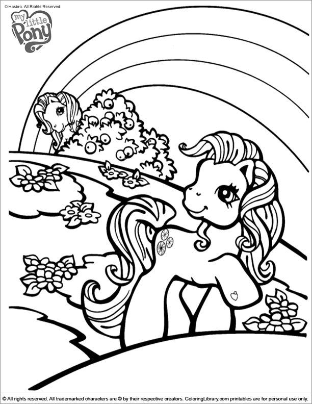 My Little Pony coloring book sheet