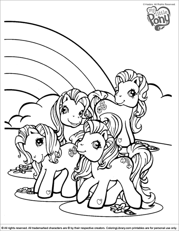 My Little Pony coloring page that