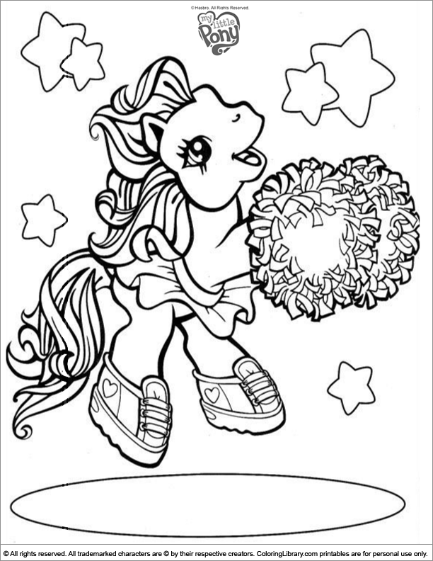 My Little Pony coloring book page for kids