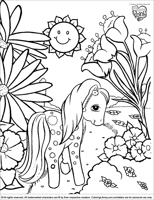 My Little Pony free coloring book page