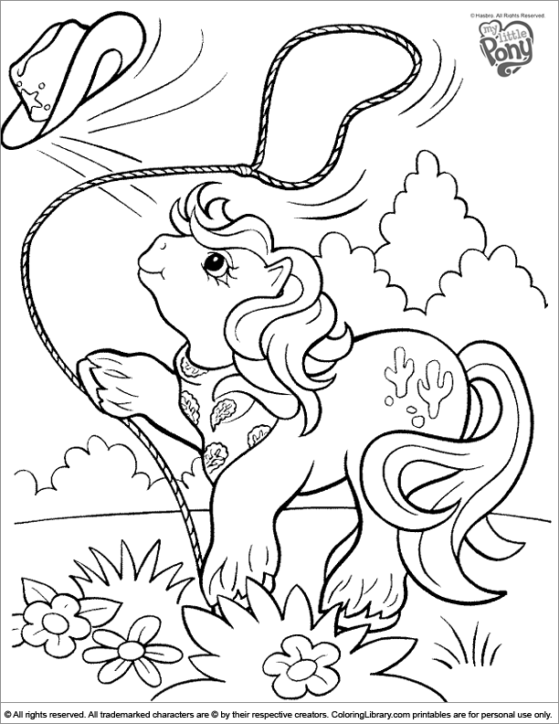 My Little Pony free coloring printable