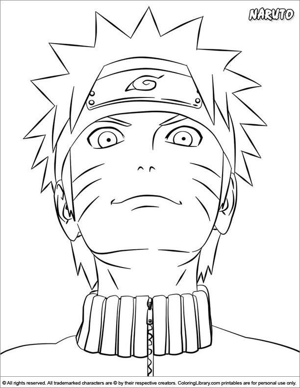 Naruto cool coloring