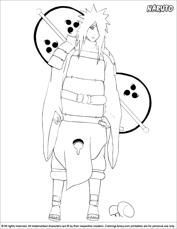 Amazing Naruto coloring page