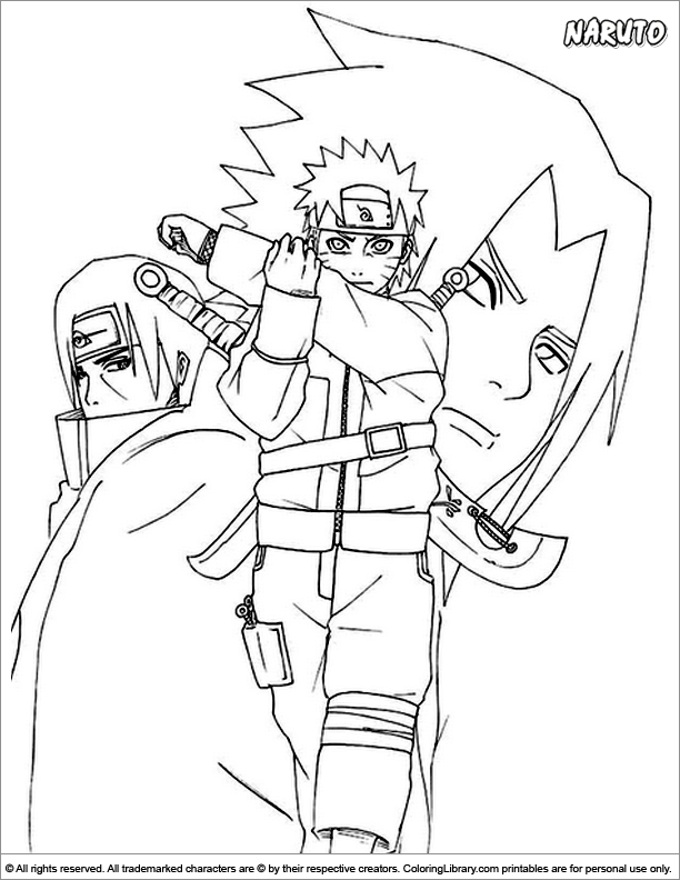 naruto coloring pages - naruto free coloring page for children coloring library
