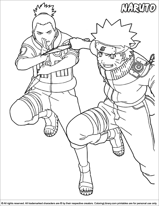 Naruto coloring book sheet - Coloring Library