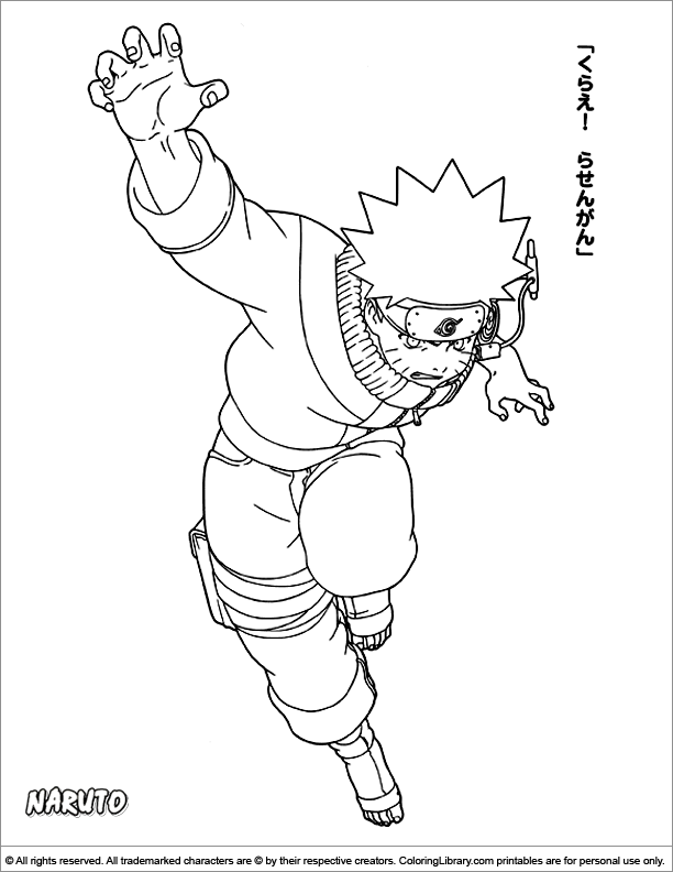 Naruto Coloring Page That You Can Print - Coloring Library