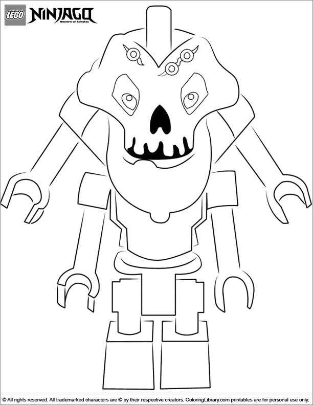 Ninjago free coloring sheet