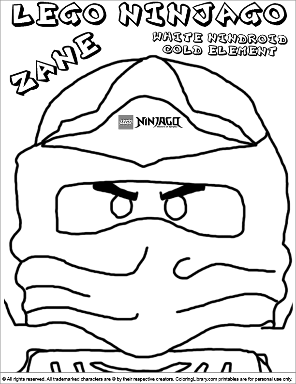 Ninjago masks colouring pages