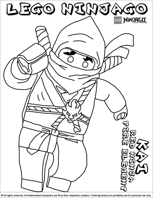 Ninjago coloring for children